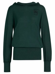 Burberry Embroidered Silk Cashmere Hoodie - Green