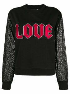 Love Moschino Love sweatshirt - Black