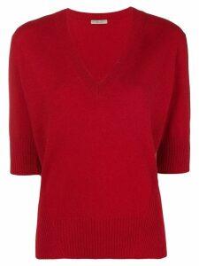 Bottega Veneta deep V-neck sweater - Red