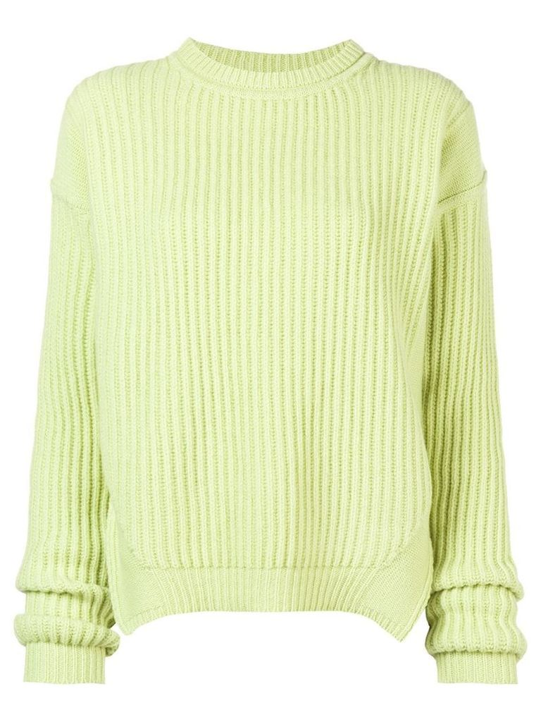 Rick Owens ribbed side slit sweater - Green