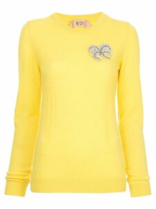 Nº21 embellished jumper - Yellow