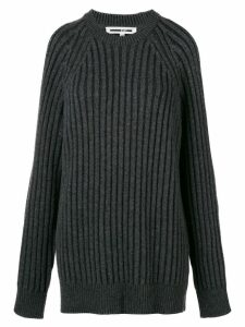 McQ Alexander McQueen cut-out shoulder jumper - Grey