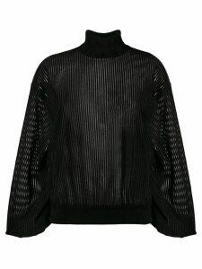 Givenchy sheer roll-neck sweater - Black