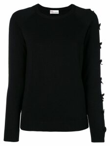 Red Valentino perfectly fitted sweater - Black