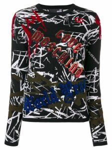 Love Moschino graffiti print jumper - Black