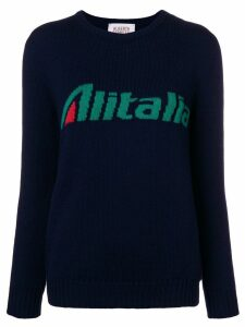 Alberta Ferretti Alitalia intarsia jumper - Blue