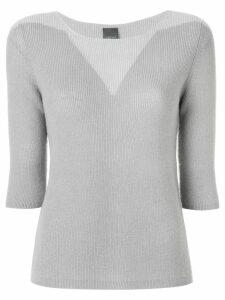 Lorena Antoniazzi ribbed sweater - Grey