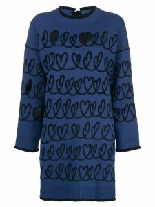 Fendi maxi knit wool blend sweater - Blue