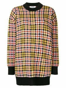 MSGM checked jumper - Yellow