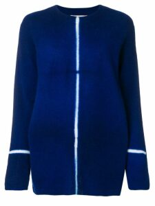 Suzusan contrast stripe long jumper - Blue