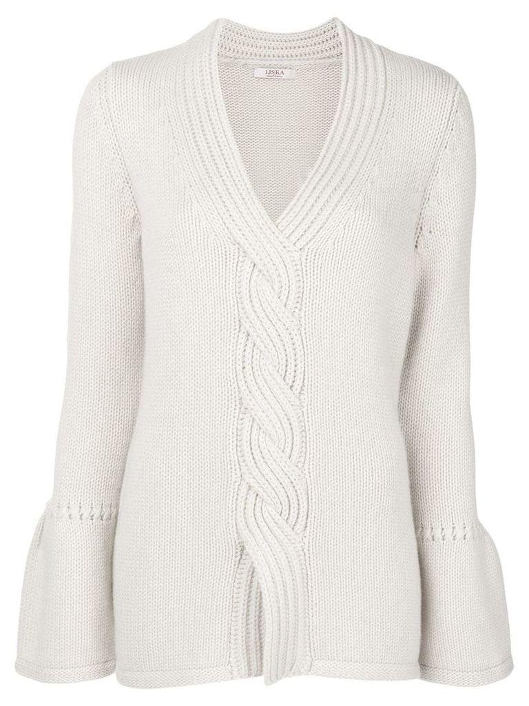Liska cashmere cable knit sweater - Neutrals