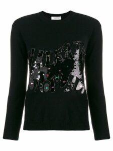 Valentino sequin embellished jumper - Black