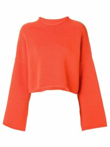 JW Anderson tangerine shoulder cable detail jumper - Yellow