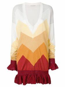Marco De Vincenzo geometric astro peplum hem sweater - Multicolour