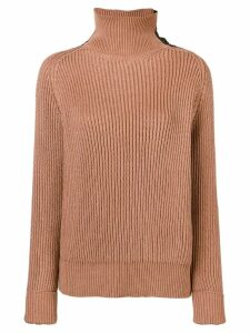 Bottega Veneta ribbed turtle neck jumper - Neutrals