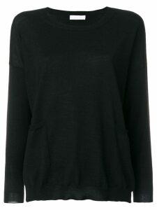 Le Tricot Perugia round neck sweater - Black