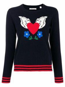 Chinti & Parker cashmere Juliet Intarsia sweater - Blue