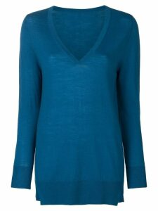 Sottomettimi lightweight knit jumper - Blue