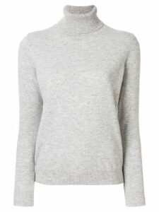 N.Peal cashmere polo neck sweater - Grey