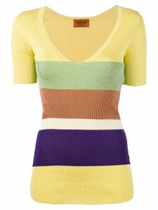 Missoni striped V-neck sweater - Yellow