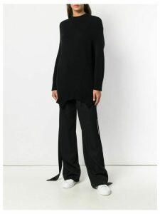 Valentino asymmetric elongated jumper - Black