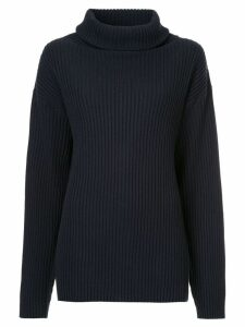 The Gigi boxy roll-neck sweater - Blue