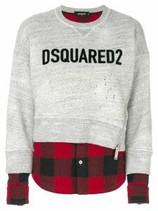Dsquared2 contrast hem logo sweatshirt - Grey