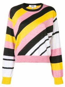 MSGM diagonal-stripe sweater - Multicolour