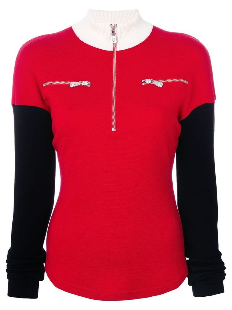 Versus zipped collar jumper - Red