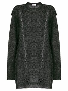 Red Valentino open cable knit sweater - Black