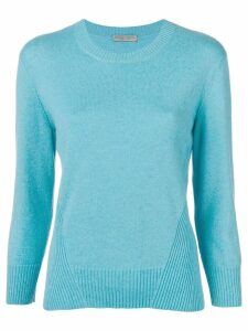 Bottega Veneta ribbed round neck jumper - Blue