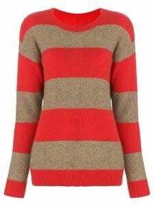 Sottomettimi striped round-neck sweater - Red