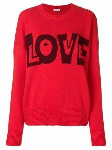 P.A.R.O.S.H. Love slogan jumper - Red