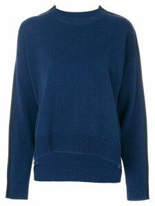 Mm6 Maison Margiela asymmetric side-stripe jumper - Blue