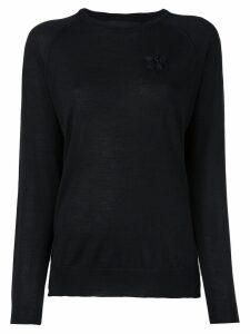 Simone Rocha embroidered detail sweater - Black
