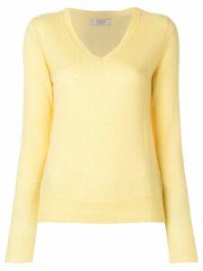 Liska classic V-neck jumper - Yellow