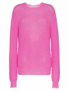 Helmut Lang feather weight mohair jumper - Pink