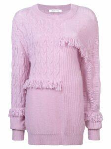 Prabal Gurung cashmere fringed sweater - Pink
