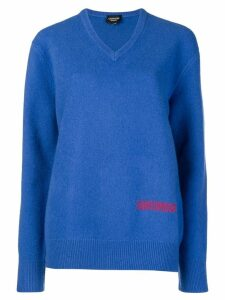 Calvin Klein 205W39nyc embroidered sweater - Blue