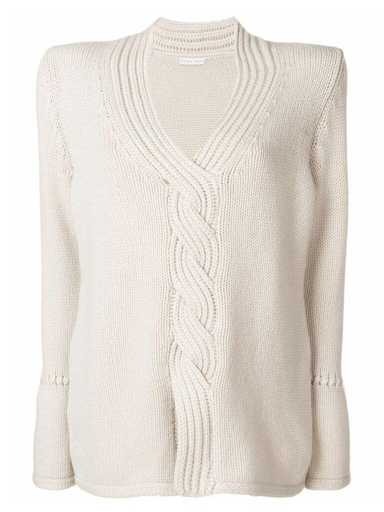 Borgo Asolo deep V-neck jumper - Grey