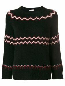 Borgo Asolo zigzag knit jumper - Black