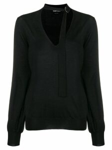 Tom Ford belted collar sweater - Black