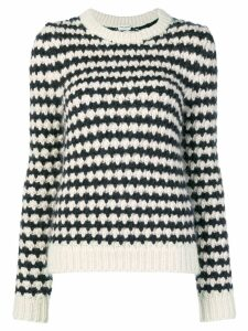 Saint Laurent striped chunky knit sweater - Black