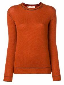 Marni contrast stitch jumper - Orange