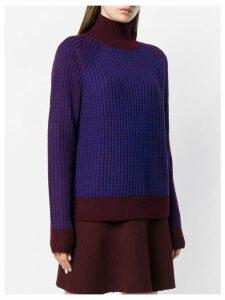 Victoria Victoria Beckham ribbed turtleneck sweater - Blue