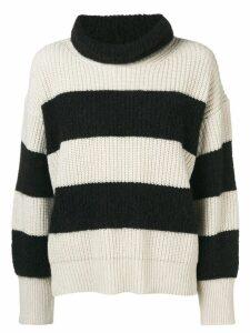 Dorothee Schumacher striped turtleneck knit - Black
