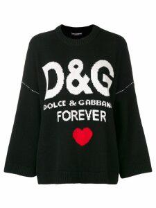 Dolce & Gabbana cashmere D & G forever jumper - Black