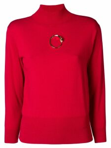 Cavalli Class gold-tone detail jumper - Red