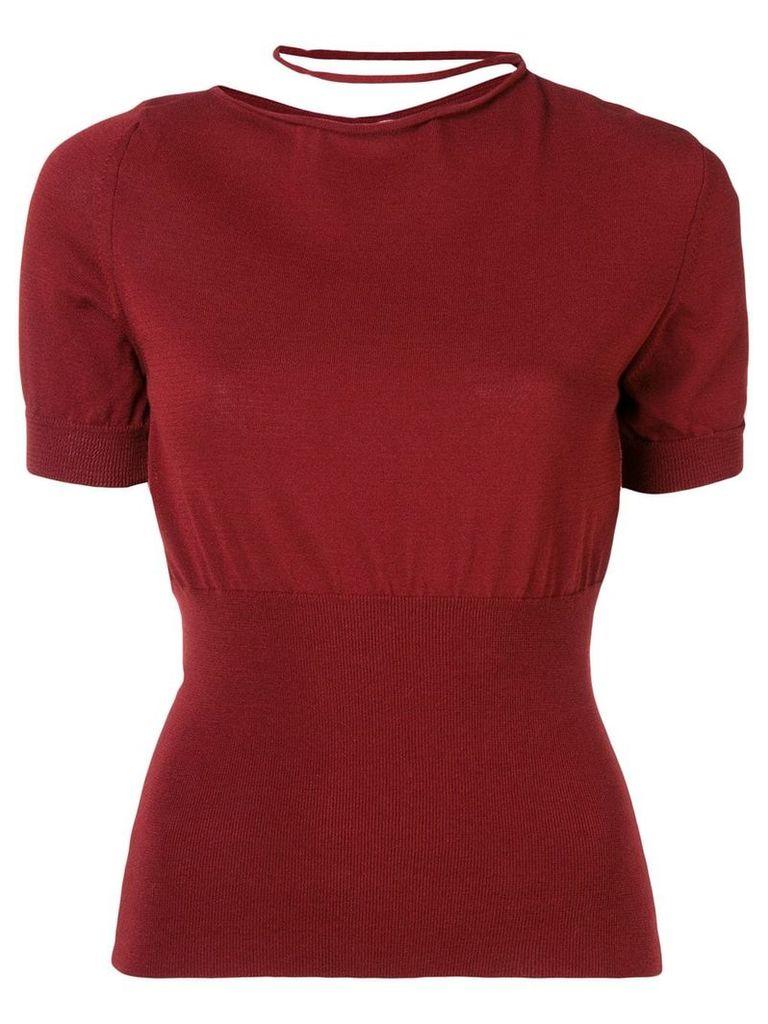 Jacquemus collar loop sweater - Red