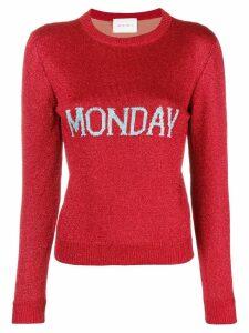 Alberta Ferretti Monday knit jumper - Red